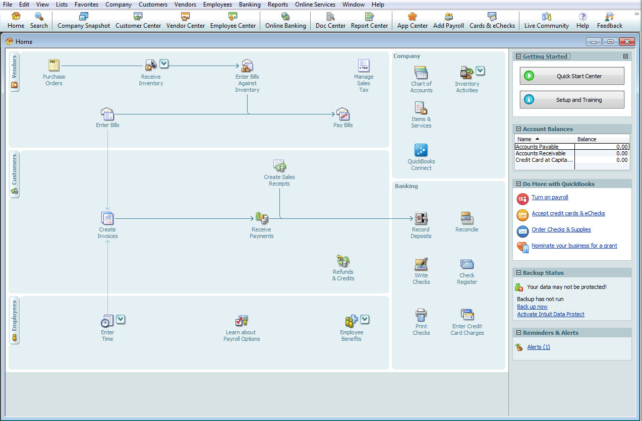 The QuickBooks Desktop Premier